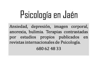 Psicología en Jaén
